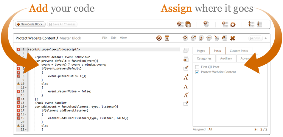 Add your code and assign where it goes