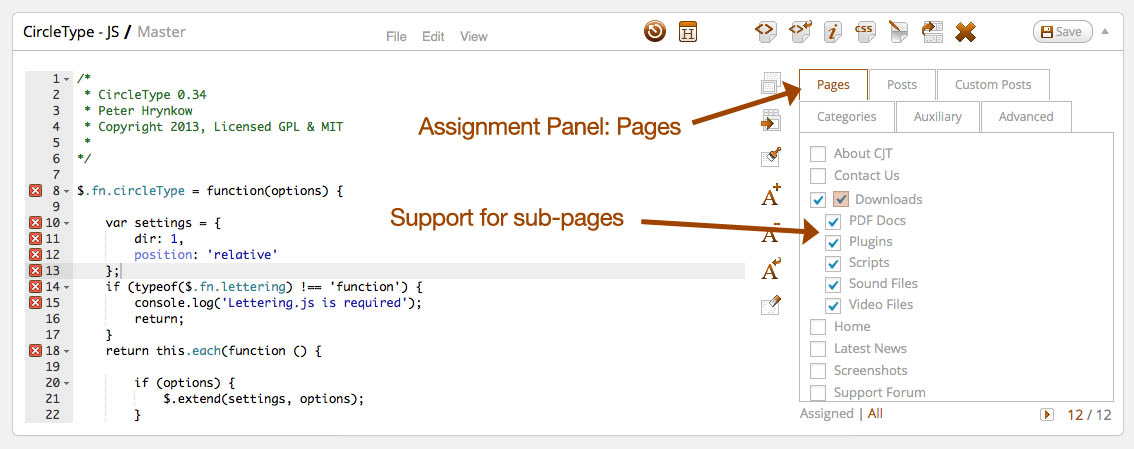 Screenshots | CSS & JavaScript Toolbox