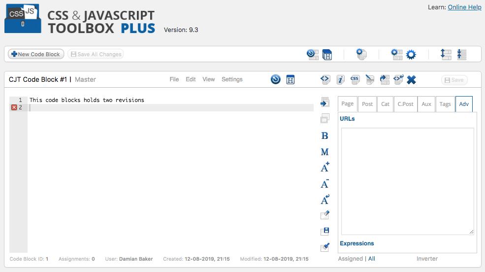 Code Block screenshot
